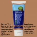 Green Screen® Organic Sunscreen SPF 31 Tinted – Bronze