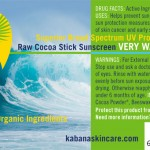 Bali Bloc SPF 30 Raw Cocoa 100% Organic Sunscreen Very Water Resistant