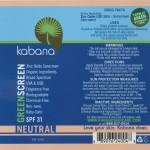 Green Screen® Organic Sunscreen SPF 31 Tinted – Neutral